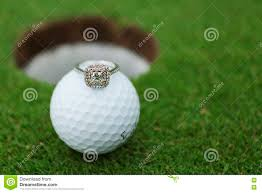 golf ball in flowers royalty free stock image image 5122366