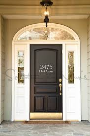 Door Decals For Home by Address House Number With Street Name Vinyl Wall Decal Wall