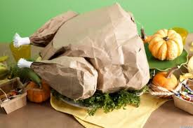 thanksgiving crafts create a paper bag turkey filled with popcorn
