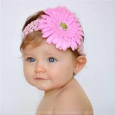 baby headbands uk baby pink gerbara flower headband christening headband