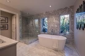 Bathrooms With Freestanding Tubs Traditional Master Bathroom With Rain Shower Head U0026 Interior