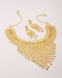 gold plated choker necklace images Buy designer necklace sets filigree design gold plated choker jpg