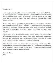 sample letters of recommendation for a teacher 9 examples in
