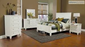 White Furniture Bedroom Sets Sandy Beach White Panel Bedroom Collection From Coaster Furniture