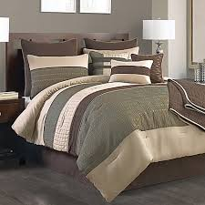 10 Pc Comforter Set Lexiara 10 Piece Comforter Set In Taupe Brown Bed Bath U0026 Beyond