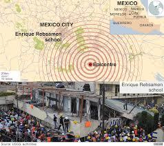 Mexico City On Map by Mexico Quake A Visual Guide Bbc News