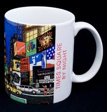 famous coffee mugs le chat noir boutique new york city nyc times square by night