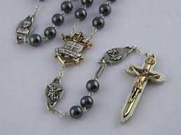 vatican rosary wr8h 8mm hematite semi precious warrior s rosary two tone