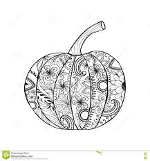 zentangle style pumpkin for thanksgiving day halloween stock