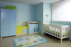 Light Blue Cabinets Baby Room White Tone Bed U0026 Cabinets With Light Blue Doors
