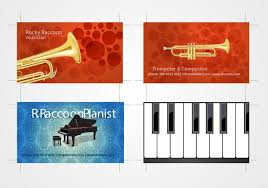 Business Card Music Musicians Business Card Set 3 Download Free Vector Art Stock