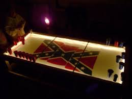 Shredded Confederate Flag Beer Pong Table Beer Pong Table Designs - Beer pong table designs
