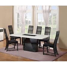 Black White Dining Table Chairs Nouvaro Marble Dining Table With 4 Chairs In Black And Intended