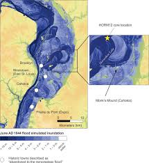 Map Of Mississippi River As The River Rises Cahokia U0027s Emergence And Decline Linked To