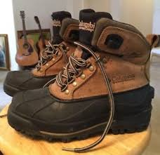 s boots in size 12 columbia s leather rubber waterproof bugabootoo thermolite