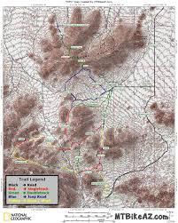 Map Of Phoenix Arizona by San Tan Park Mountain Bikers U0027 Trail Map Mtbikeaz Com