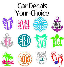 monogram stickers best 25 monogram car decals ideas on car decals