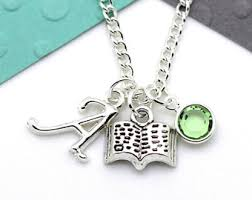 Custom Charm Necklaces Writing Necklace Etsy
