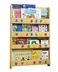 childrens book shelves tidy books children u0027s front facing bookcase with 3d alphabet