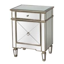 Silver Leaf Nightstand Worlds Away Claudette Mirrored Nightstand Silver Leaf Clayton