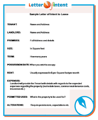 sample letter of intent http www letter of intent org using a