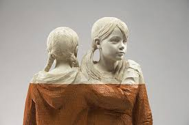 figurative wood sculptures by willy verginer colossal