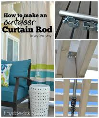 Turquoise Curtain Rod How To Make An Outdoor Curtain Rod For Very Little Money Outdoor