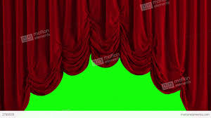 red austrian stage curtain go up and down stock animation 2799599