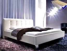Schlafzimmer Komplett Mit Matratze Und Rost Polsterbett Detwin 180x200 Weiß Kunstleder Bettgestell Rost