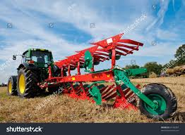tractor modern farm equipment field stock photo 61183387