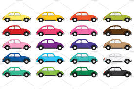 volkswagen beetle clipart classic bug car clip art set illustrations creative market