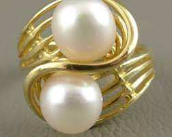 gold pearl rings images Gold pearl ring etsy jpg