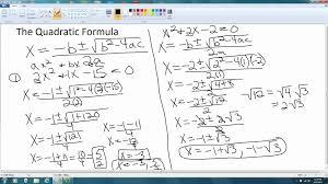 factoring polynomials 7 solving quadratic equations using quadratic formula
