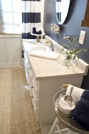 navy blue cottage bathroom makeover fox hollow cottage