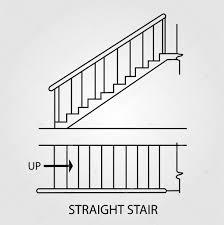 Modifier Un Escalier by De Dessus Et Vue De Face D U0027un Escalier Droit U2014 Image Vectorielle