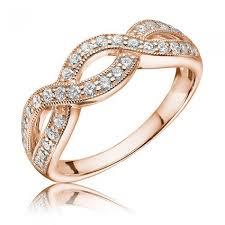 braided ring 14k gold diamond braided ring