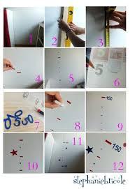 toise chambre bébé idée déco pour chambre d enfant faire une toise en stickers