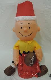Blow Up Holiday Decorations Image Gemmy Inflatable Christmas Football Charlie Brown Jpg