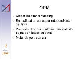 Object Relational Mapping Visión Arquitectónica Jose A Espinosa Ppt Descargar