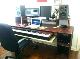 Studio Desk Diy Home Recording Desk Studio Desks Throughout Simple