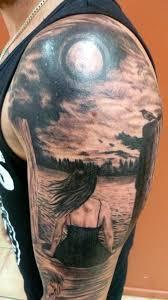 ideas moon tattoos sleeve moon