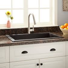 Ignacio DropIn Granite Composite Sink Black Kitchen - Kitchen sinks granite composite