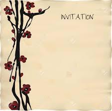 Simple Invitation Card Japanese Ideas Invitation Cards Templates Modern Designing
