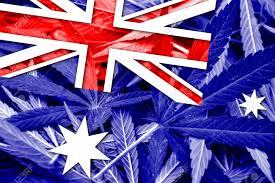 Australia Flags Australia Flag On Cannabis Background Drug Policy Legalization