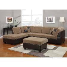 Ottoman Pillows Bursa Crestline Corduroy Sectional Sofa Set With Pillows And