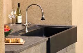the salus outdoor kitchen sink by stone forest 3rings