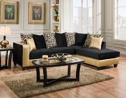 Gold Sectional Sofa Implosion Black Shimmer Gold Sectional Sofa By Delta Savvy