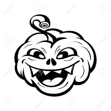black and white halloween pumpkin clipart funny halloween pumpkin tattoo isolated over white royalty free