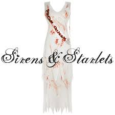 Carrie Halloween Costume Ladies White Bloody Gory Prom Queen Carrie Halloween