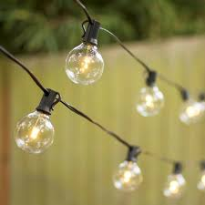 led globe string lights g50 bulb 25 ft black c7 strand warm white